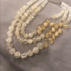 3 strand statement necklace.  Adjustable.